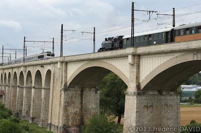 train vapeur viaduc pont vintage locomotive 141 TB 407 AJECTA Saint-Mammès Seine-et-Marne