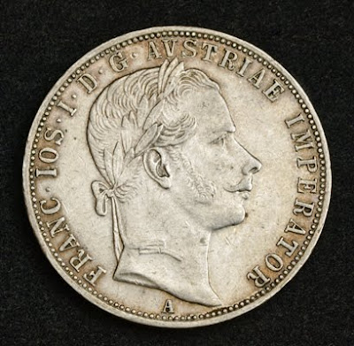 Austrian Empire Gulden silver coin