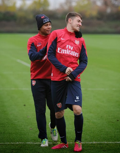 Serge and Aaron at training