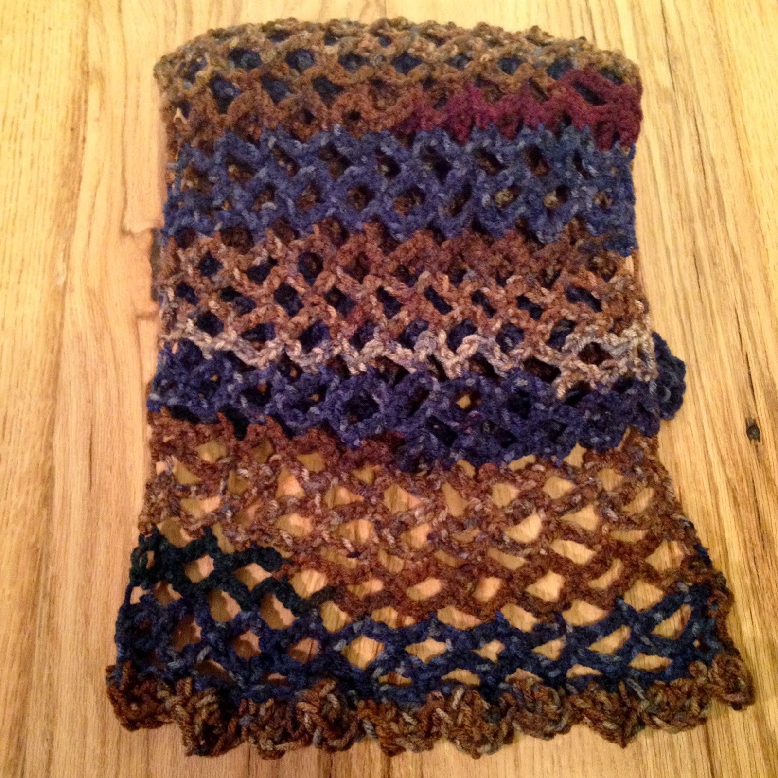 Bring a smile to someone's face (even if it's your own!) and order and Autumn Sky Openwork Crochet Scarf today...just in time for Christmas giving!  Handcrafted and made with love- TheHuntshire