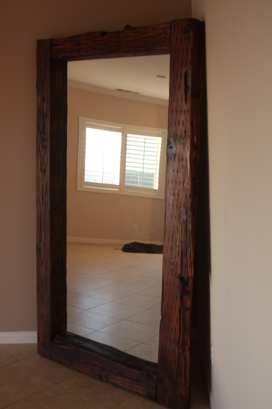 Delightful 7 Foot Tall Mirror Part - 1: 7 Ft Tall Reclaimed Wood Mirror