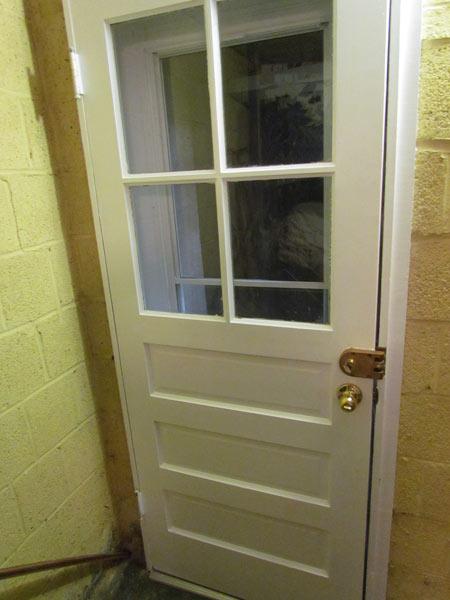 & Basement Door Renovation - Is Completed! Crawls Backward (When Alarmed)