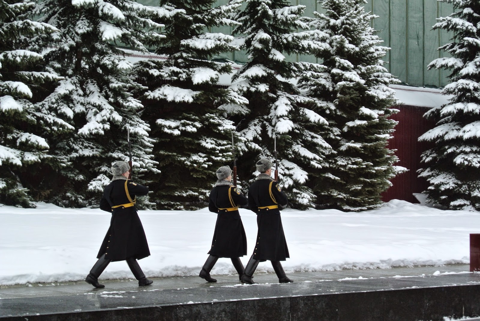 Changing the guards at the tomb of the Unknown Soldier, Moscow