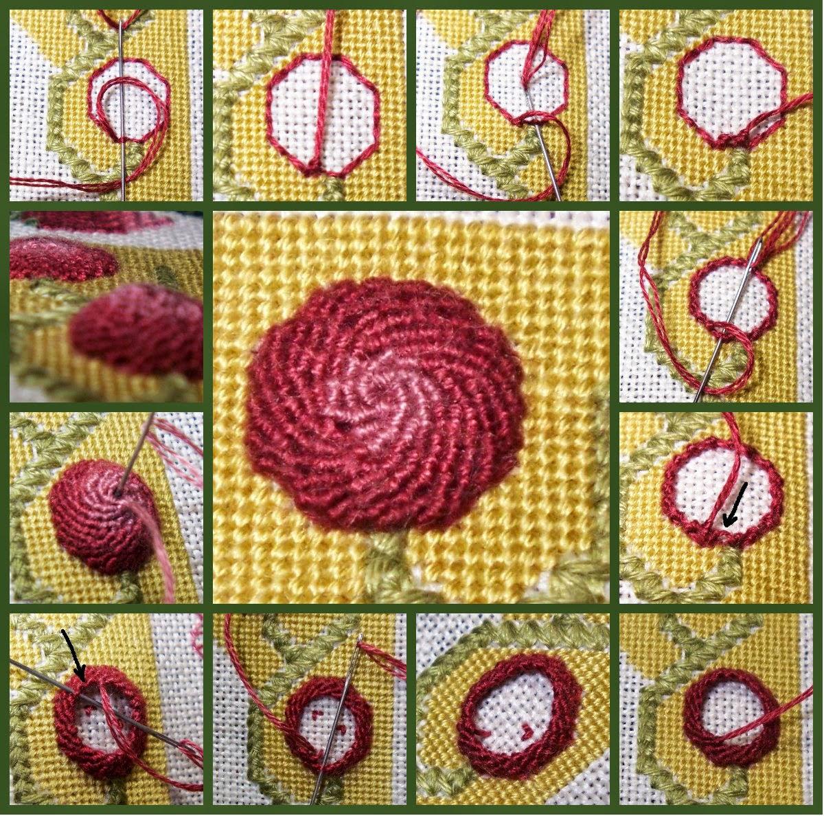 схема вышивки квартет в цвете