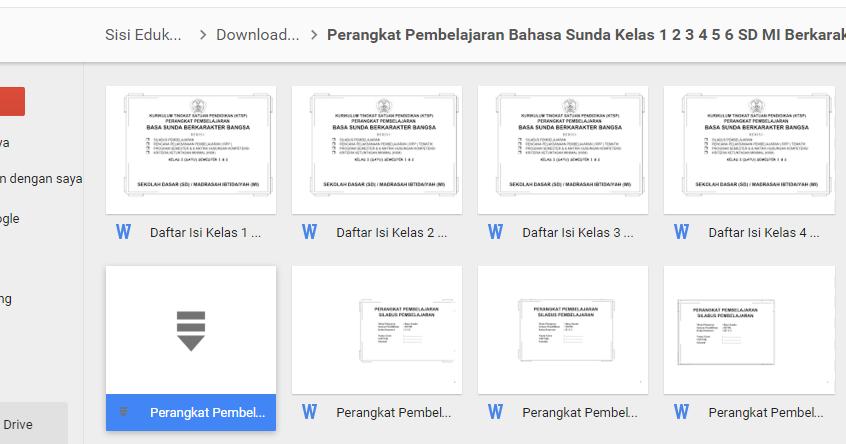 Download Perangkat Pembelajaran Bahasa Sunda Sd Mi Kelas 1 2 3 4 5 Dan 6 Berkarakter Belajar