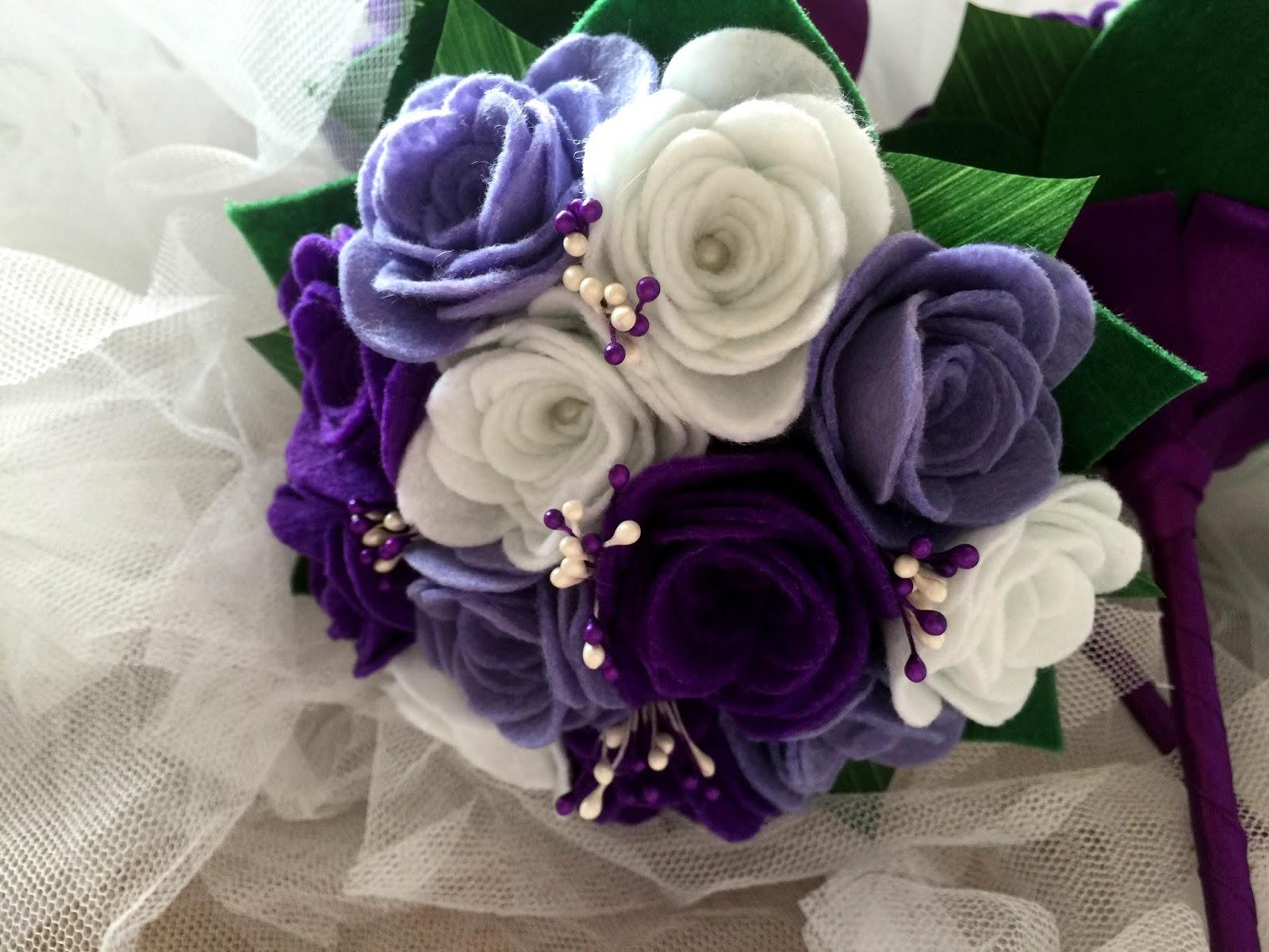 Mini ramos de fieltro para regalar bodas y princesas - Ramos para regalar ...