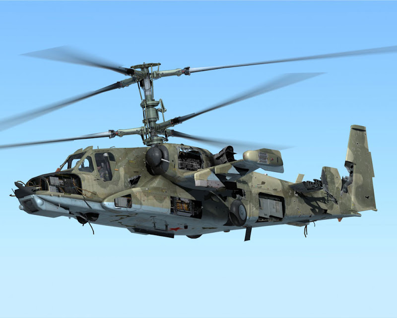 Ka-50 Black Shark Powerful Battle Helicopter