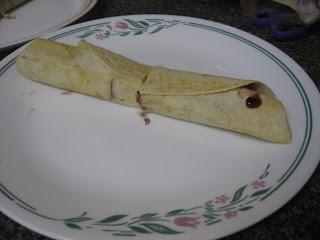 Cherry duck burrito