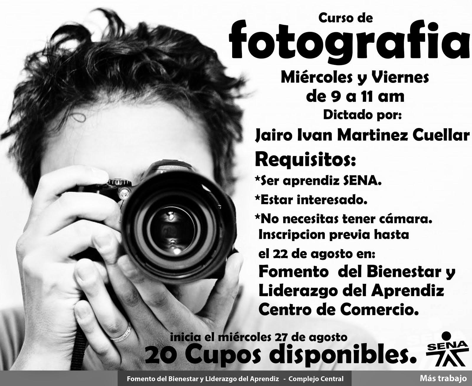 Inscribete en nuestros Talleres de Fotografia