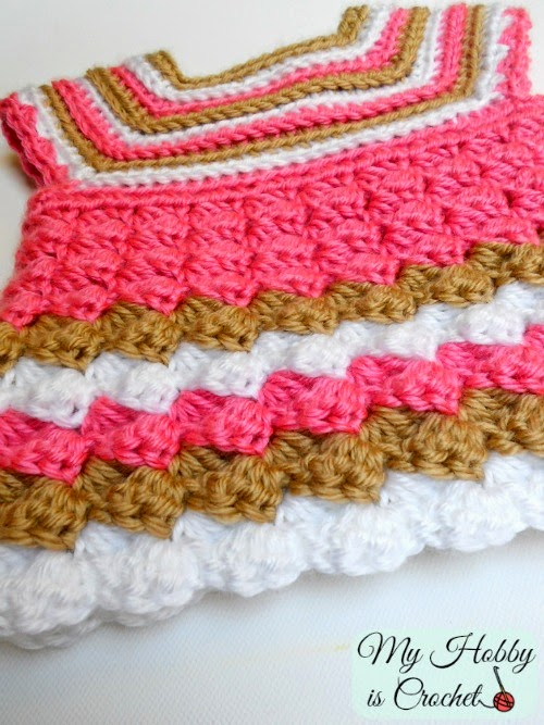 My Hobby Is Crochet Stripes And Bubble Baby Cardigan Free Crochet
