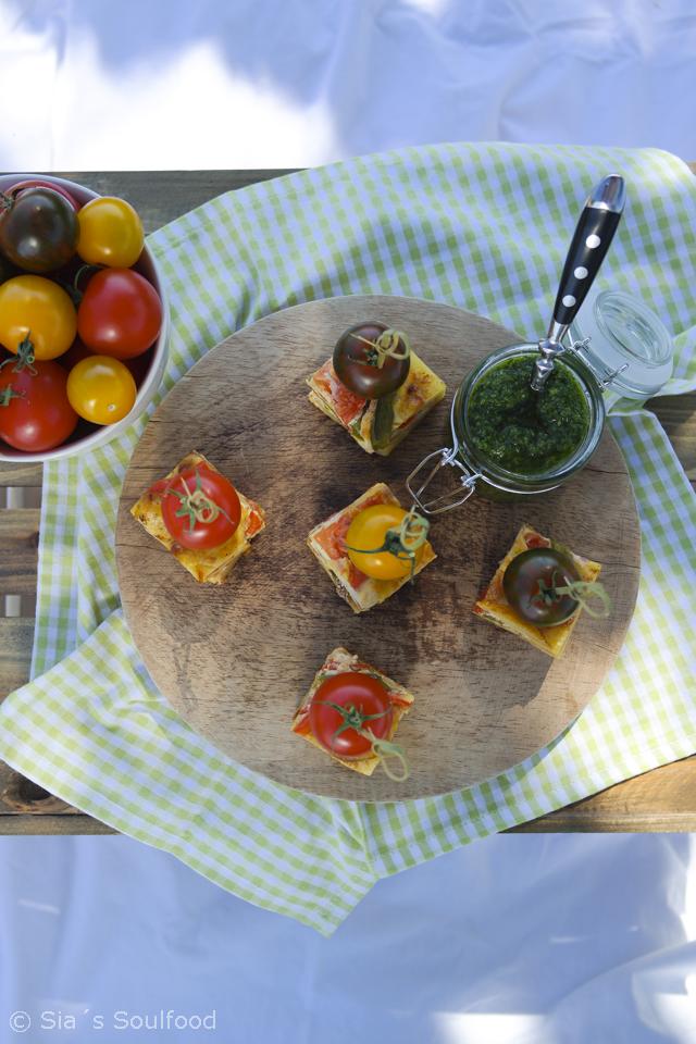 Tortilla mit Salsa verde