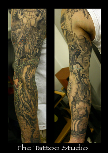 Full Sleeve Tattoos Ideas 51