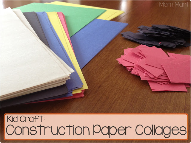 Kid Craft Construction Paper Collages