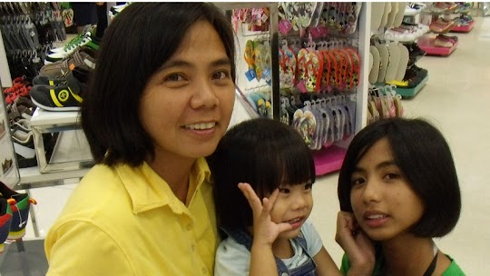 My wife Dang with Baby Rhomiel and Ate Aryan
