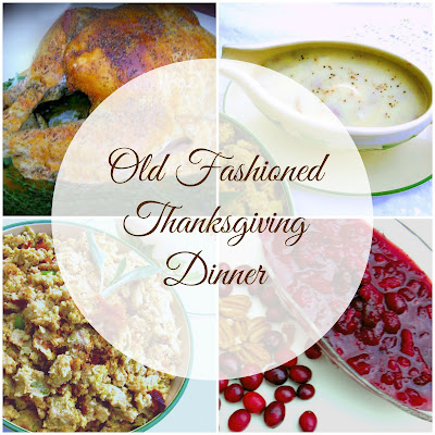 Old Fashioned Thanksgiving Turkey and Southern Cornbread Dressing with Giblet Gravy