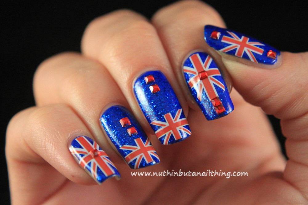 Nuthin but a nail thing 33 day challenge day 21 europe union jack nail art prinsesfo Image collections