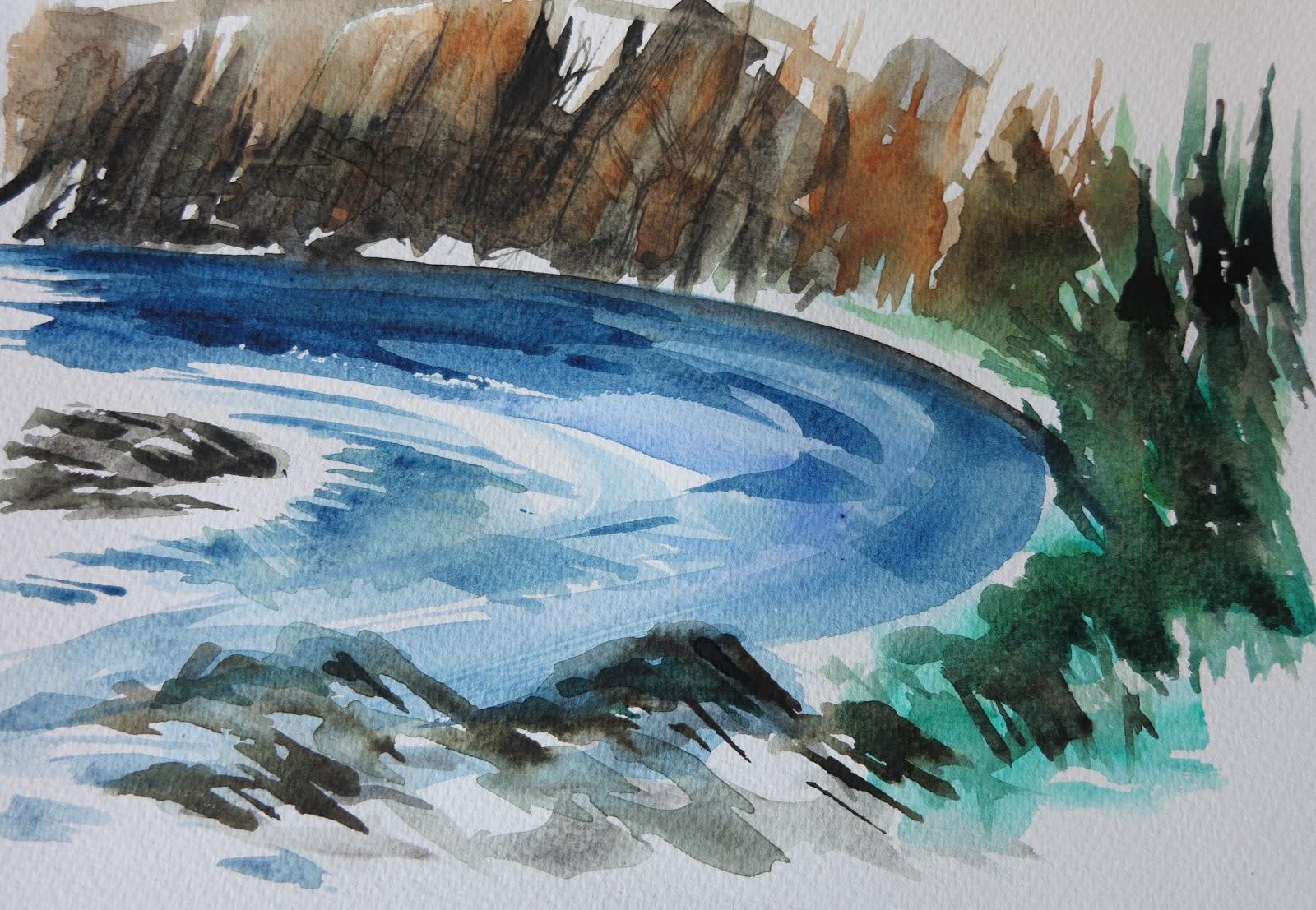 Dipingere a memoria il fiume savina