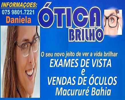 EXAME DE VISTA E VENDA DE ÓCULOS EM MACURURÉ
