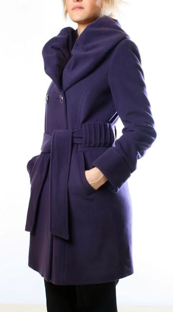 kase kisli%252Ck bayan mor kaban modeli 2013 Son Moda Kışlık Kaşe Bayan Kaban Modelleri