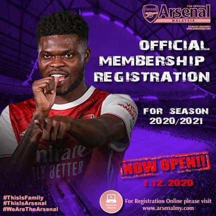 Arsenal Malaysia Membership 2020/2021