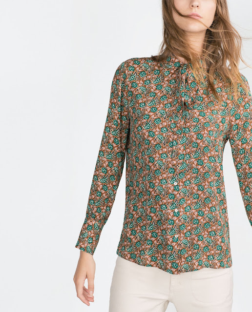 zara small floral shirt,