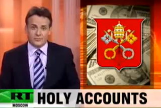 Russia Today Vatican bank accused of laundering Vaticano Bank Corrupt Money Cleaner Turns Dirty Money Blessed By The Pope Becames Holly Money RT Video