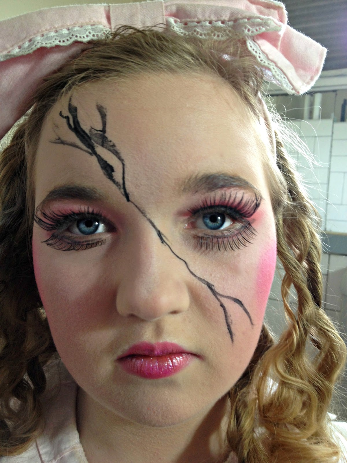 halloween makeup ideas: cracked doll - omega: fashion adjacent
