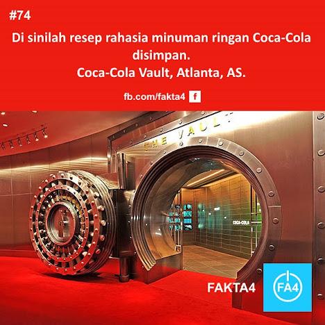 Lemari besi tempat menyimpan resep rahasia Coca-Cola