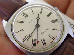 TIMEX ELECTRIC WHITE ROMAN DIAL