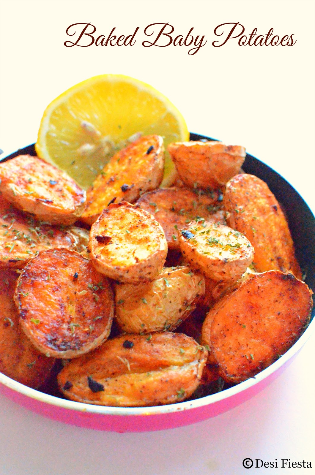Roasted Baby Potatoes with Herbs and garlic