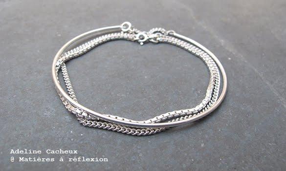 bracelet adeline cacheux argent 925 mati res r flexion paris. Black Bedroom Furniture Sets. Home Design Ideas