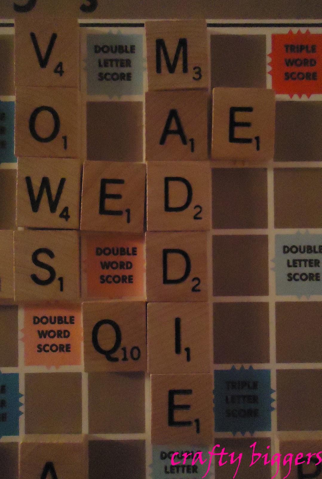 Scrabble Names Wall Art Crafty Biggers Scrabble Wall Art