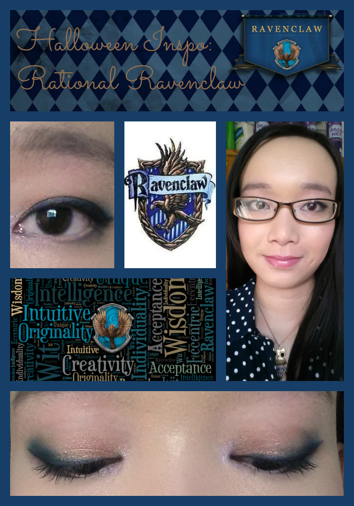 HALLOWEEN INSPO | Rational Ravenclaw fotd, halloween makeup looks, simple makeup look using lorac pro palette 2