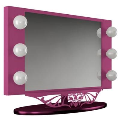 Broadway Lighted Vanity Mirror Pink : BeYOUtyfortheAging: Vanity Girl Mirror