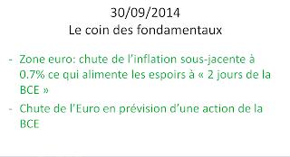 news économiques boursières 30/09/2014