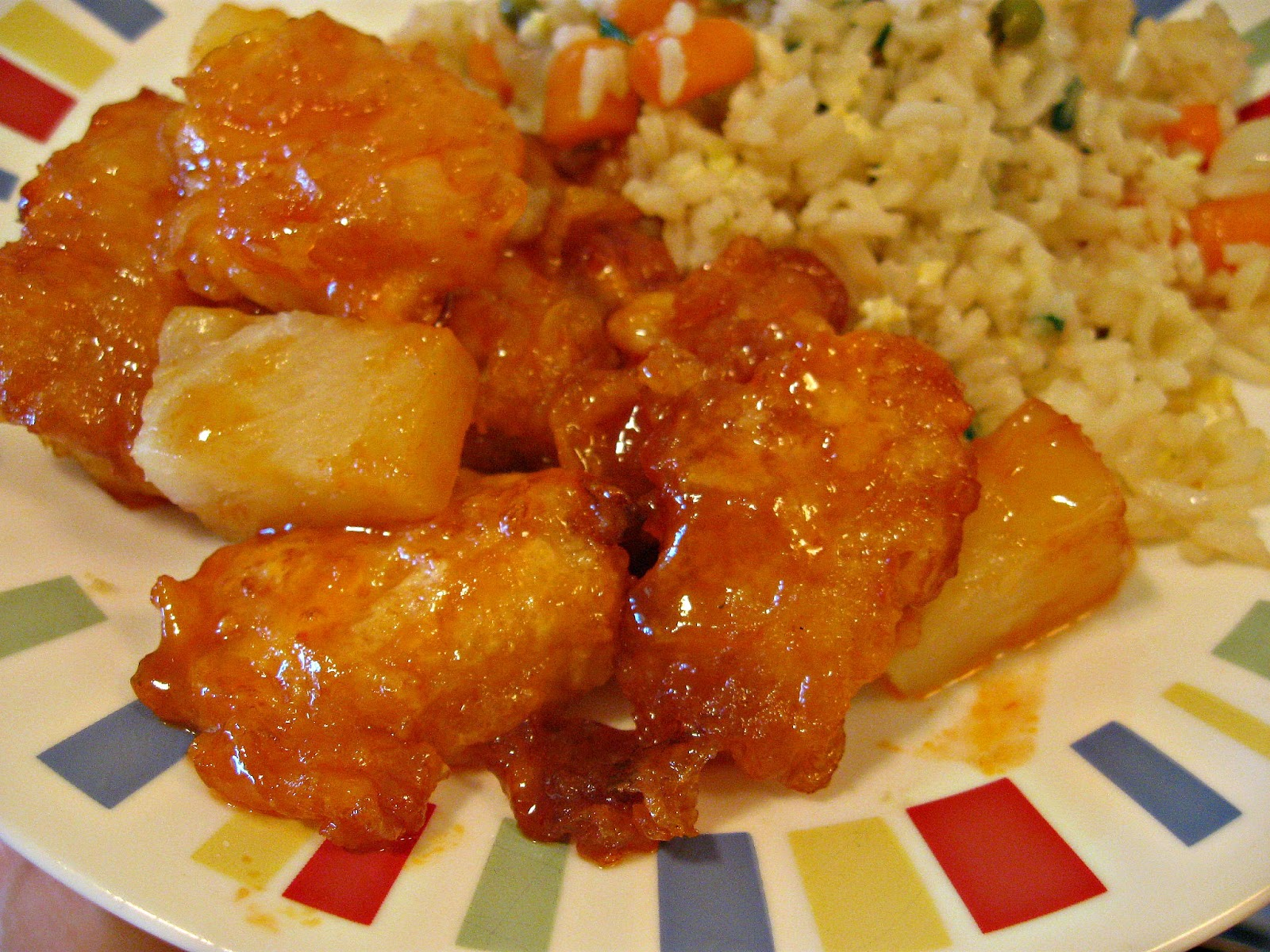 ... americanized orange sweet and sour chicken i think it s delicious and