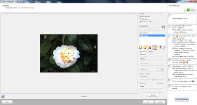 Iluminação, opções modo manual do Photo! Editor