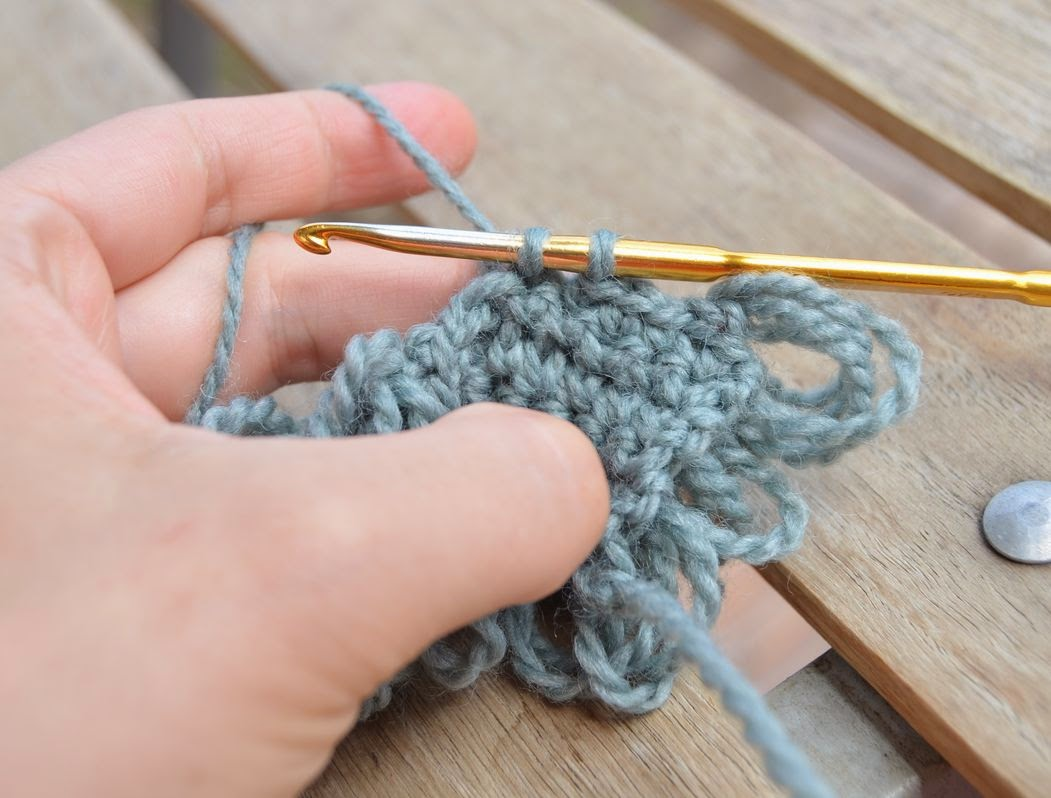 Crochet Stitches Yoh And Draw Up A Loop : How to make a loop stitch - crochet tutorial by Lilla Bjorn