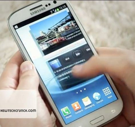 Samsung Galaxy s3 design features pop up window