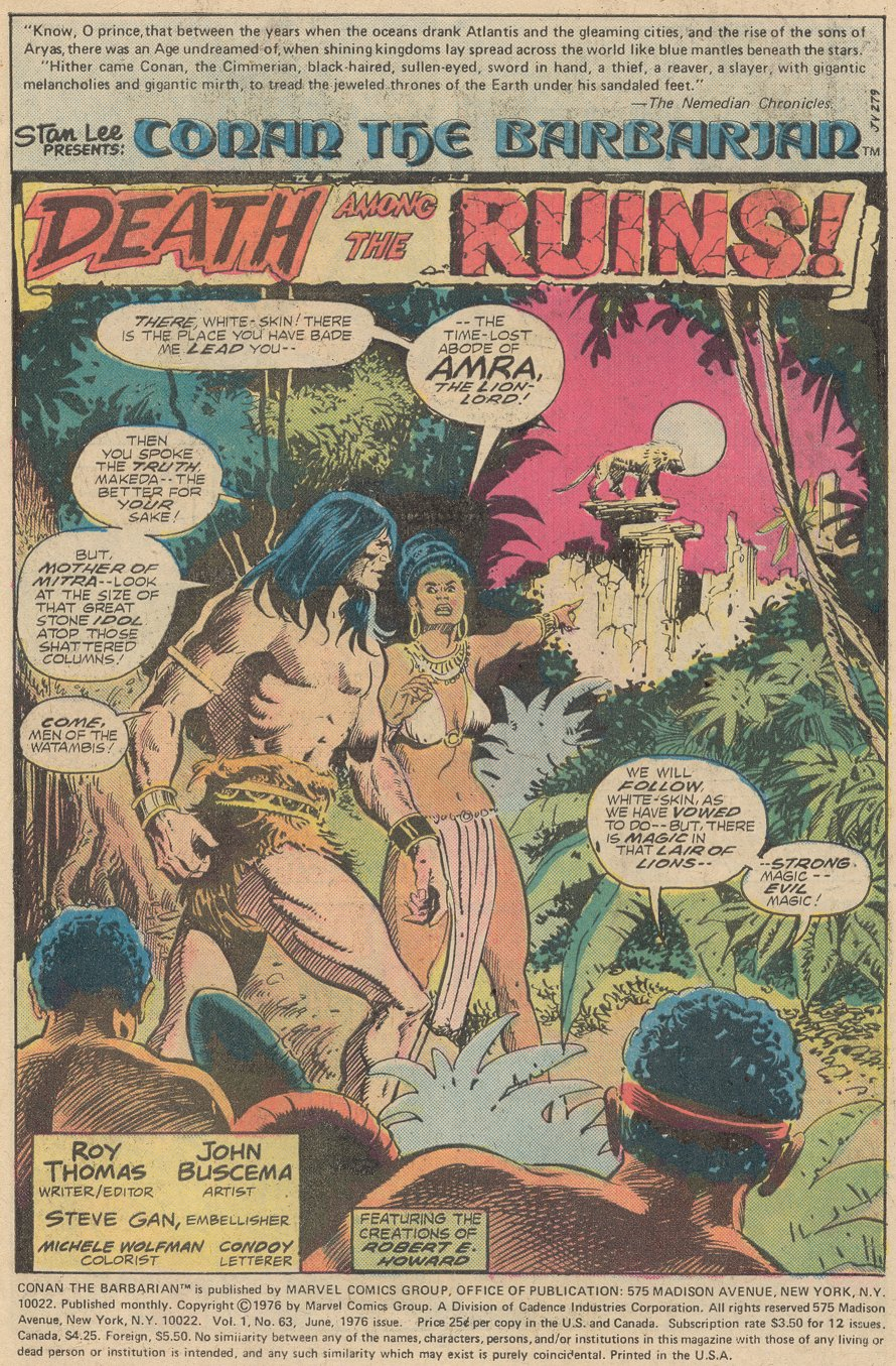 Conan the Barbarian (1970) Issue #63 #75 - English 2