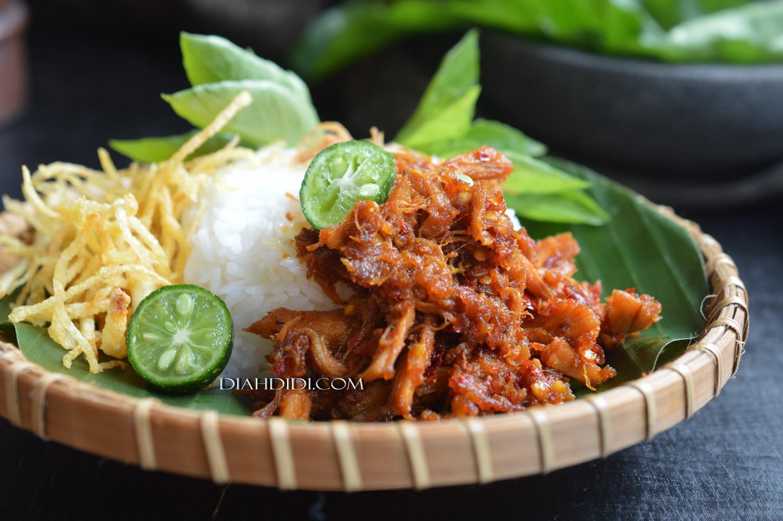 Resep Ayam Suwir Khas Lombok