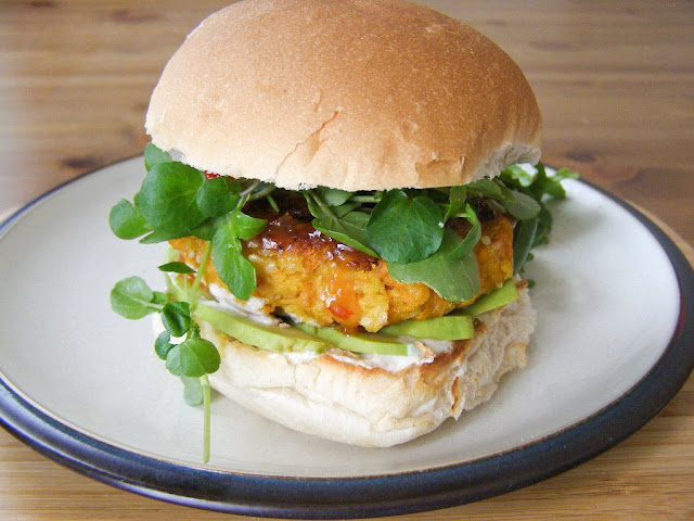 Vegan Carrot and Sesame Burgers