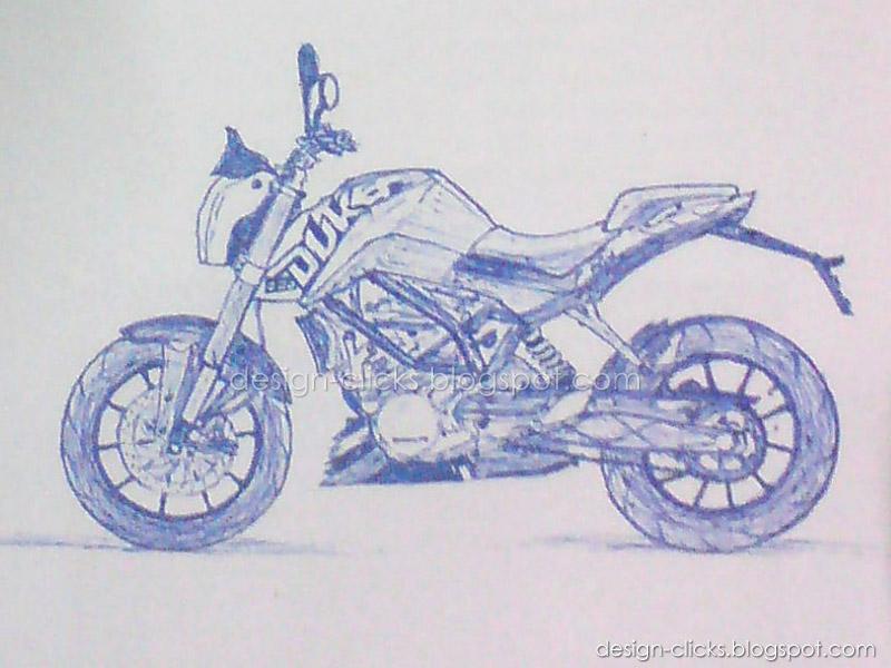 Bike Sketch Ktm Duke 200 Designs Sketches