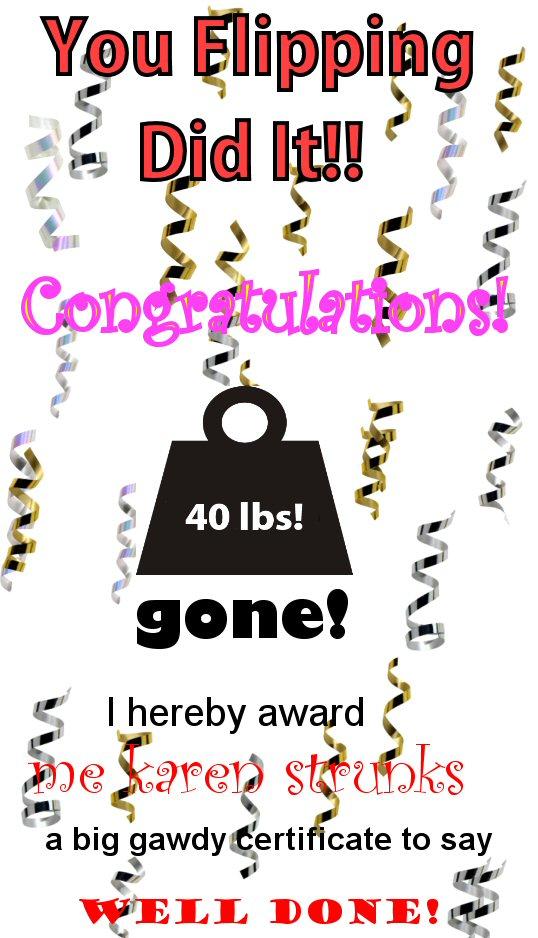 weight loss certificate template