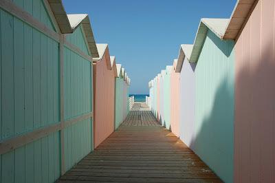 Mondello spiaggia cabine liberty