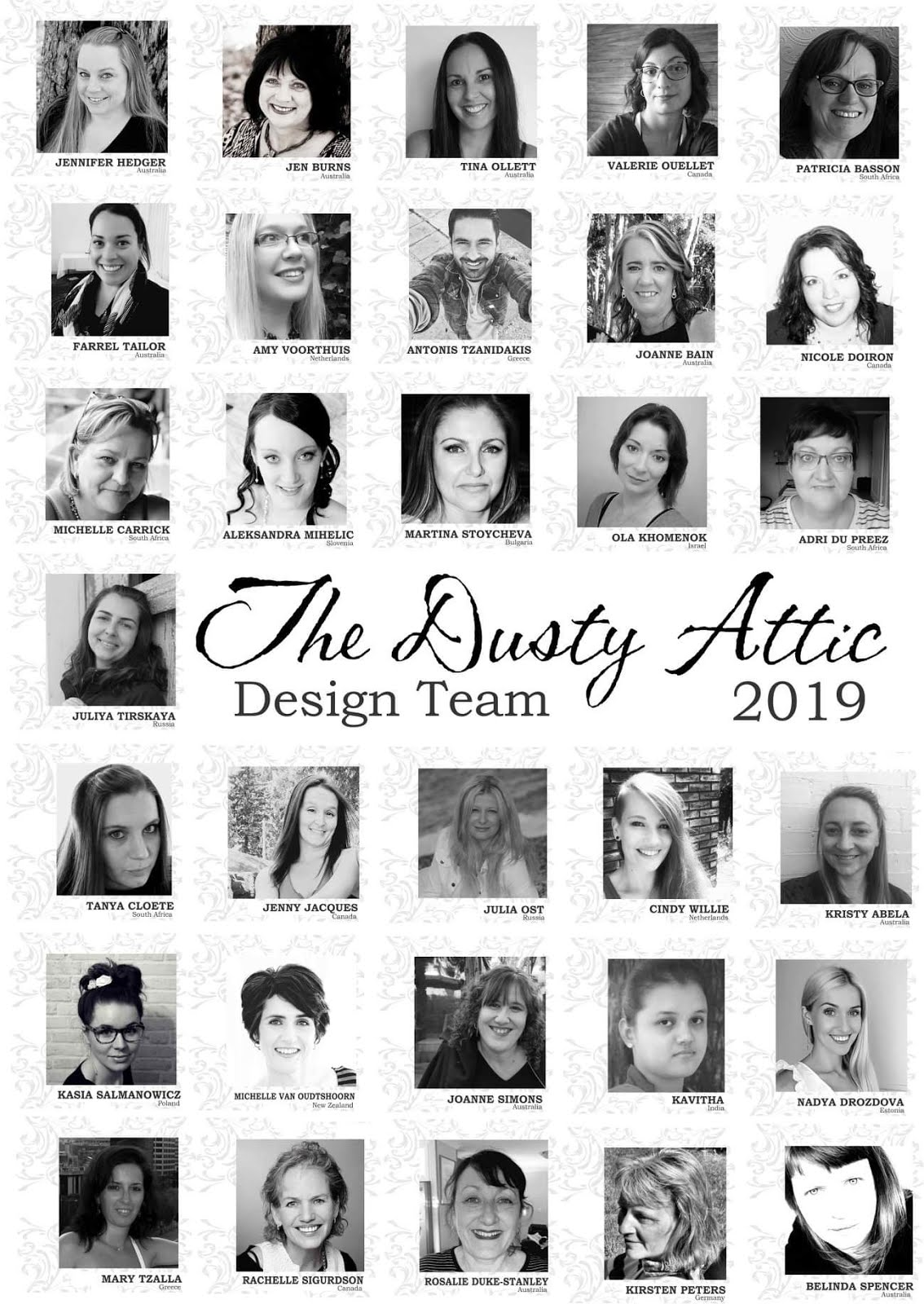 The Dusty Attic Design Team 2019