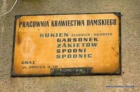 Warszawa Bracka śródmieście usługi szyld