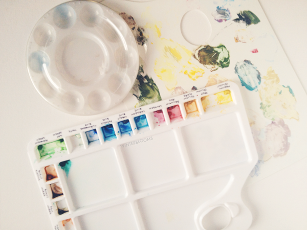 watercolour paint trays