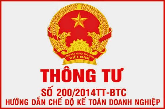 Thông tư số 200/2014/TT-BTC