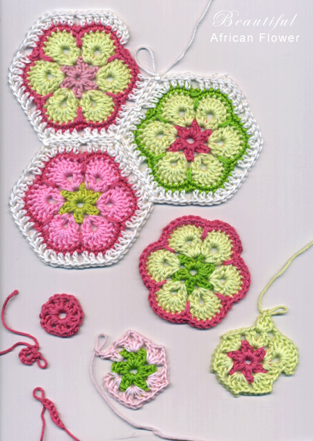 Free Crochet Pattern For Mum Flower : Beautiful African Flower Pattern...Love These!